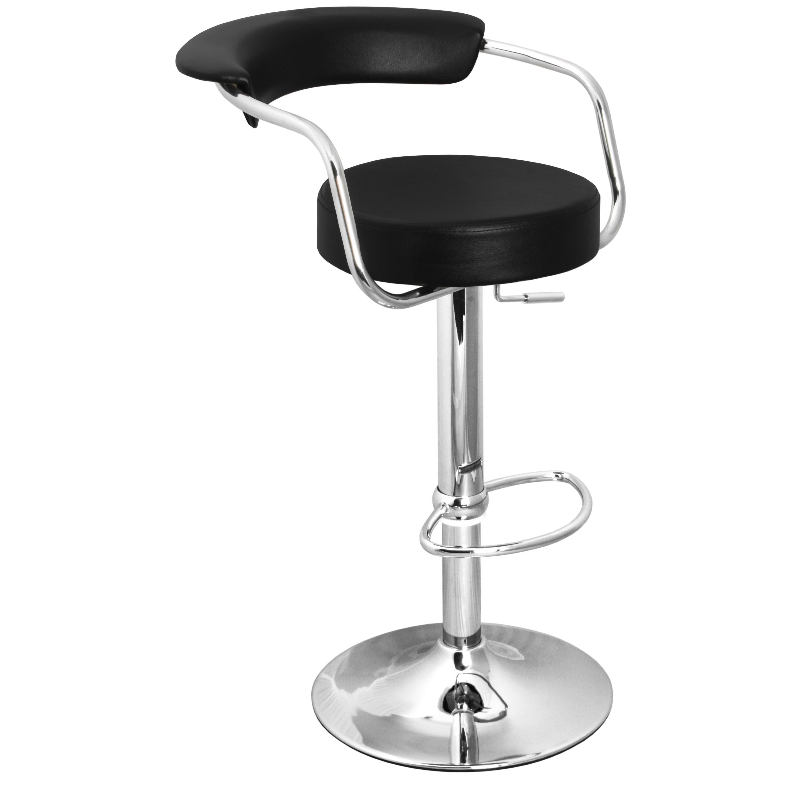 Zenith Bar Stool with Arms - Black